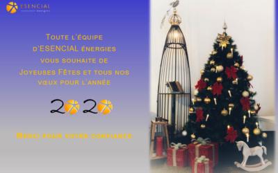 JOYEUSES FÊTES & UNE ANNÉE 2020 ILLUMINÉE DE SUCCÈS!